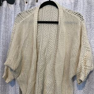 Open knit cream cardigan